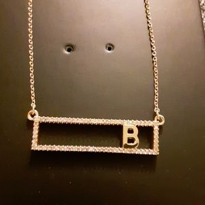 Baublebar initial B gold necklace